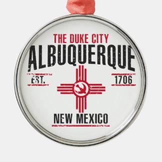 Albuquerque Zilverkleurig Rond Ornament