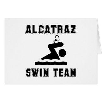 Alcatraz zwemt Team Kaart