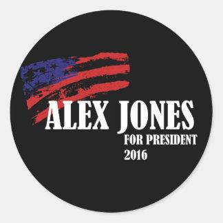 Alex Jones voor President 2016 Ronde Sticker