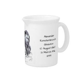 Alexander Konstantinovich Glazunov 1899 Drink Pitcher