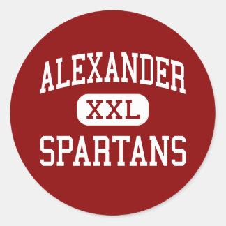 Alexander - Spartans - Middelbare school - Albany Ronde Sticker