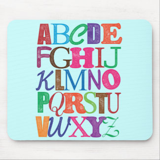 Alfabet Mousepad Muismat