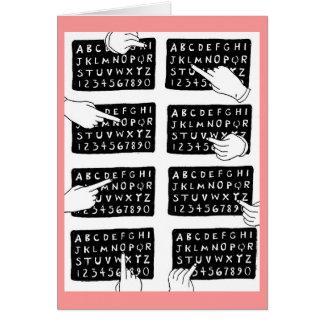 alfabet raad briefkaarten 0