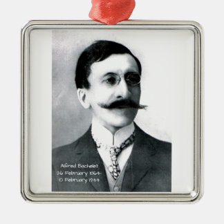 Alfred Bachelet Zilverkleurig Vierkant Ornament