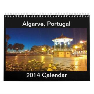 Algarve, Portugal Kalender 2014