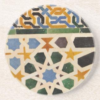 Alhambra de Tegel van de Muur #3 Zandsteen Onderzetter