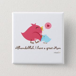 Alhamdulillah heb ik een Grote Speld van het Mamma Vierkante Button 5,1 Cm