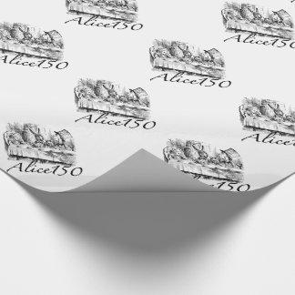Alice150 Alice in het 150ste Jubileum van het Inpakpapier