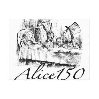 Alice150 Alice in het 150ste Jubileum van het Stretched Canvas Afdruk