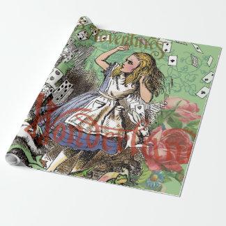 Alice en de het Vliegen Collage van het Inpakpapier