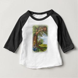 Alice en de Kat van Cheshire Baby T Shirts