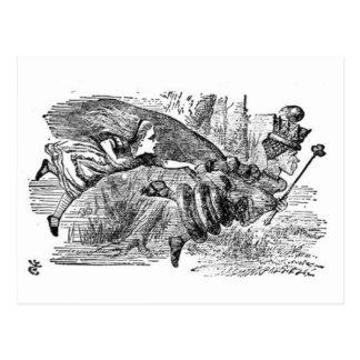 Alice en de Koningin Briefkaart