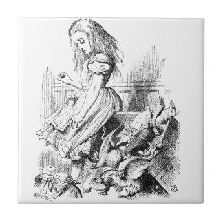 Alice en een Doos van Dieren Tegeltje