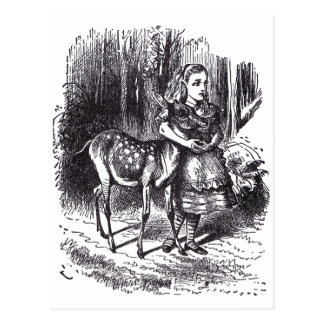 Alice en Fawn Briefkaart