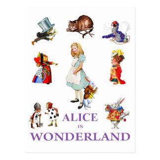 Alice en Vrienden van Sprookjesland Briefkaart