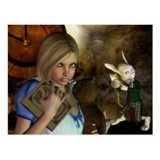 Alice & het Witte Konijn Briefkaart