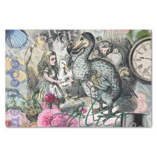 Alice in Collage van het Dodo van het Tissuepapier