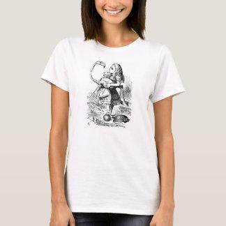 Alice in de t-shirt van de de flamingoillustratie