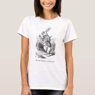 Alice in de t-shirt van de het konijnillustratie