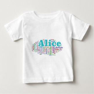 Alice in de Wolk van Word van het Sprookjesland Baby T Shirts