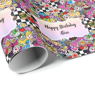 Alice in Gepersonaliseerde de Omslag van de Gift Cadeaupapier
