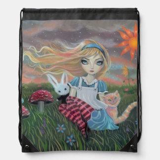 Alice in het Art. van Fairytale van het Trekkoord Rugzakje