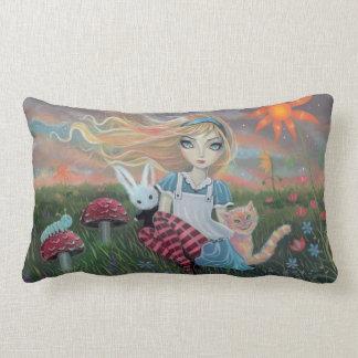 Alice in het Hoofdkussen van de Kunst van de Lumbar Kussen