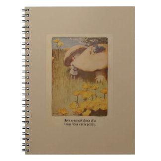 Alice in het Notitieboekje van de Illustratie van Ringband Notitie Boek