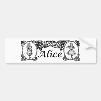 Alice in het Vintage Lijst van het Sprookjesland Bumpersticker