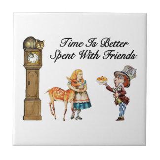 Alice in Sprookjesland beter met Vrienden Tegeltje
