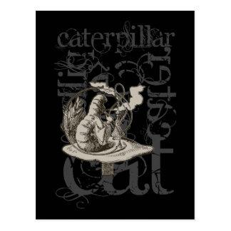 Alice in Sprookjesland Caterpillar (Enige) Grunge Briefkaart