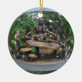 Alice in Sprookjesland - Central Park NYC Rond Keramisch Ornament