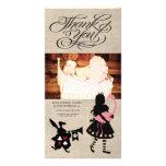 Alice in Sprookjesland dankt u de Kaart van de Persoonlijke Fotokaart