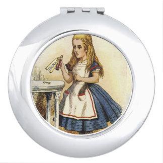 Alice in sprookjesland drink compact me make-up spiegeltjes