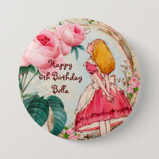Alice in Sprookjesland Gepersonaliseerde Ronde Button 7,6 Cm