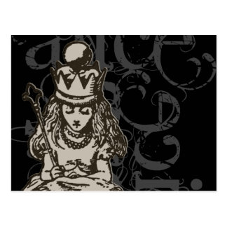 Alice in Sprookjesland Koningin Alice (Enig) Briefkaart