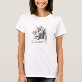 Alice in T-shirt van de Illustratie van het