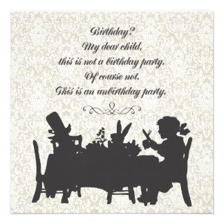 Alice in Verjaardag van het Theekransje van de Hoe Uitnodiging