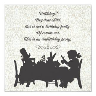 Alice in Verjaardag van het Theekransje van de Uitnodiging