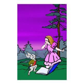 Alice & Konijn in het Bos van het Sprookjesland Briefpapier