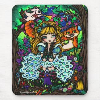 """Alice van """"Alice Lost"""" bij de Kat van Cheshire van Muismat"""