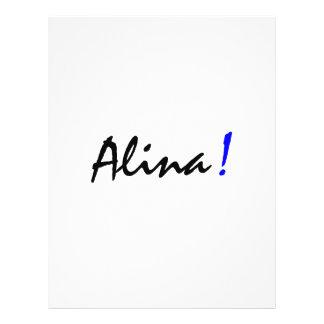 Alina Gepersonaliseerde Folder