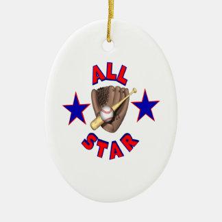 All Star Keramisch Ovaal Ornament