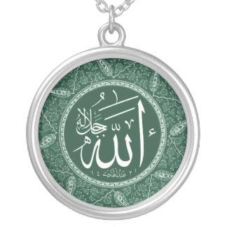 Allah Name in Arabisch Zilver Vergulden Ketting