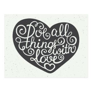 Alle Dingen met Liefde Briefkaart