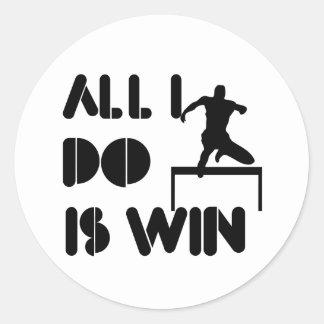 Alle doe ik ben win bij Hindernissen Ronde Sticker