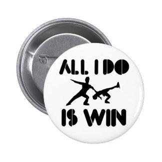 Alle doe ik ben win bij Kunstschaats Speld Button