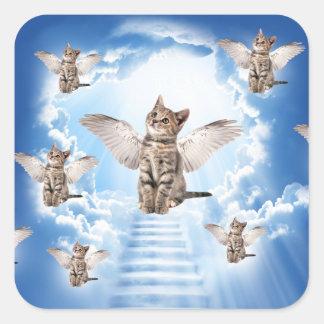 Alle Katten gaan naar Hemel Vierkante Sticker