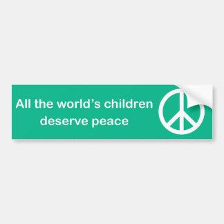 Alle kinderen van de wereld verdienen bumpersticker