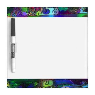 Alle Kleuren met Wervelingen en Lijnen Dry Erase Whiteboards